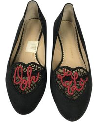 Charlotte Olympia - Pre-owned Cloth Flats - Lyst