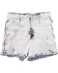 e0ee120002b Balmain - Blue Denim - Jeans Shorts - Lyst