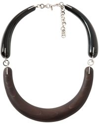 Marni - Brown Wood Necklace - Lyst