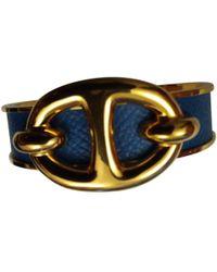 Hermès - Pre-owned Chaîne D'ancre Blue Metal Bracelets - Lyst