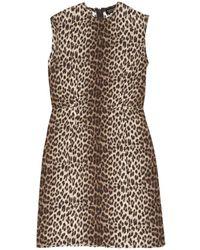 Lanvin - Brown Silk Dress - Lyst