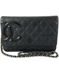 67d85d88b6a6 Lyst - Chanel Wallet On Chain Leather Clutch Bag in Metallic