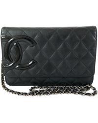 7129820fd017 Lyst - Chanel Wallet On Chain Leather Clutch Bag in Metallic