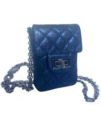 9f9eedc3c7f3 Chanel - Pre-owned 2.55 Blue Leather Handbags - Lyst