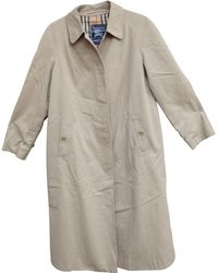 Burberry - Vintage Beige Polyester Coat - Lyst