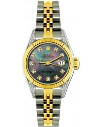 Rolex - Pre-owned Lady Datejust 26mm Multicolour Gold And Steel Watches - Lyst