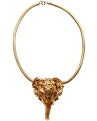 Dior - Pre-owned Vintage Gold Metal Necklaces - Lyst