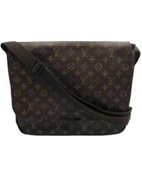 Louis Vuitton - Pre-owned Brown Cloth Bags - Lyst