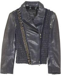 0095afa388 Philipp Plein Starr Biker Jacket in Black - Lyst