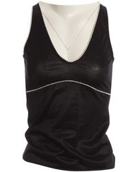 Chanel - Pre-owned Black Viscose Tops - Lyst