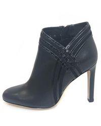 85428e8b9b3a4 Ferragamo - Black Leather Ankle Boots - Lyst