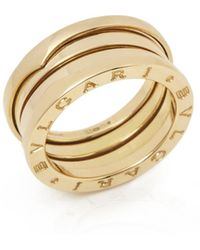 BVLGARI - B.zero1 Yellow Yellow Gold Ring - Lyst