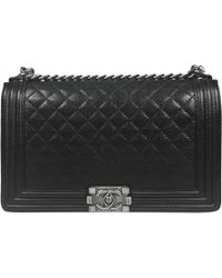 490c137d6594 Chanel Timeless Leather Crossbody Bag in Black - Lyst