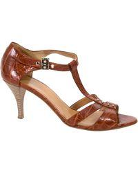 Hermès - Brown Crocodile Heels - Lyst