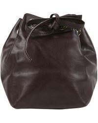 Vanessa Bruno - Pre-owned Burgundy Leather Handbags - Lyst