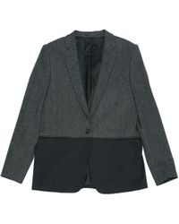 The Kooples - Anthracite Viscose Jacket - Lyst