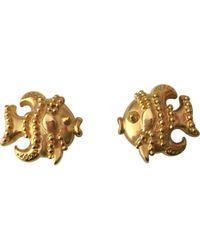 Versace - Gold Metal Earrings - Lyst