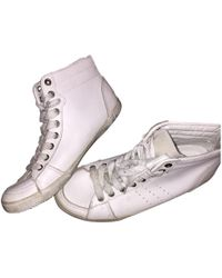 IRO - Pre-owned White Leather Trainers - Lyst