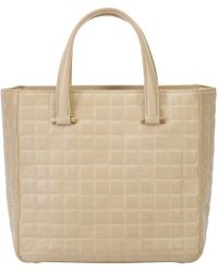 Lyst - Chanel Mini Handbag Matrasse Suede Brown Pre-owned in Brown eea0f00453b63
