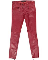 Barbara Bui - Red Leather Trousers - Lyst