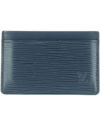 Louis Vuitton - Pre-owned Blue Leather Purses, Wallets & Cases - Lyst