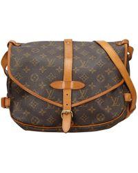 Louis Vuitton - Saumur Cloth Handbag - Lyst