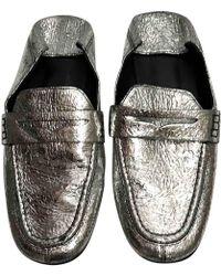 243ebffab10 Isabel Marant Fezzy Collapsible-heel Metallic Cracked-leather ...