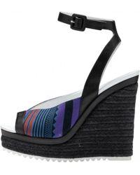 Hermès - Pre-owned Black Leather Sandals - Lyst