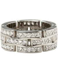 Cartier | Maillon Panthère White Gold Ring | Lyst