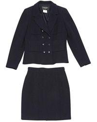 Chanel Navy Wool Jacket - Blue