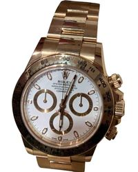 Rolex - Pre-owned Daytona Gold Yellow Gold Watches - Lyst