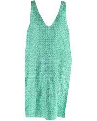 Marni - Green Silk Dress - Lyst
