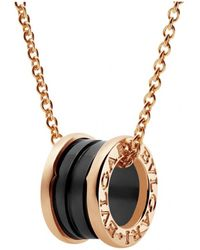 BVLGARI - Pre-owned B.zero1 Multicolour Pink Gold Necklaces - Lyst