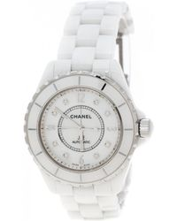 Chanel - J12 Automatique White Ceramic Watches - Lyst