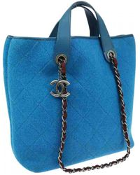 Chanel - Coco Cabas Wool Tote - Lyst