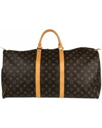 Lyst - Louis Vuitton Keepall Cloth Weekend Bag in Brown for Men 92c3677498449