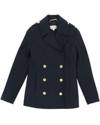 Michael Kors - Pre-owned Blue Wool Coat - Lyst