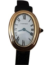 Cartier - Pre-owned Baignoire Yellow Gold Watch - Lyst