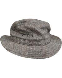 A.P.C. - Grey Wool Hats - Lyst