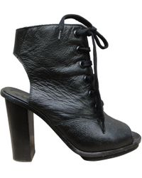 Claudie Pierlot - Leather Open Toe Boots - Lyst
