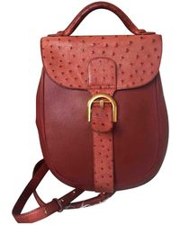 Delvaux - Le Brillant Ostrich Backpack - Lyst