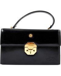 7346ff5a7f70 Lyst - Versace Palazzo Empire Black Leather Mini Handbag in Black