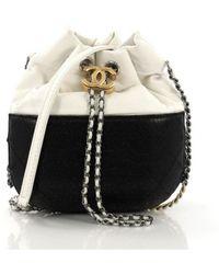 03976ee8eda1c1 Chanel Gabrielle Leather Handbag in Black - Lyst