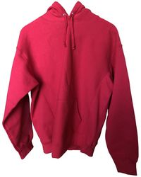 Supreme - Pre-owned Red Cotton Knitwear & Sweatshirt - Lyst