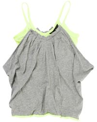 Marc By Marc Jacobs - Grey Cotton Top - Lyst