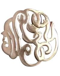 Ginette NY - Monograms Pink Gold Ring - Lyst