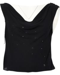 Chanel - Pre-owned Vintage Black Silk Tops - Lyst