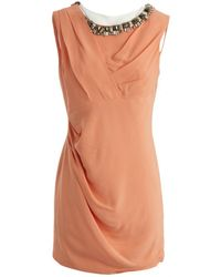 Matthew Williamson - Orange Viscose Dress - Lyst