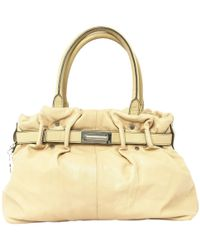 Lanvin - Pre-owned Beige Leather Handbags - Lyst