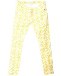 Ba&sh - Pre-owned Yellow Cotton - Elasthane Jeans - Lyst